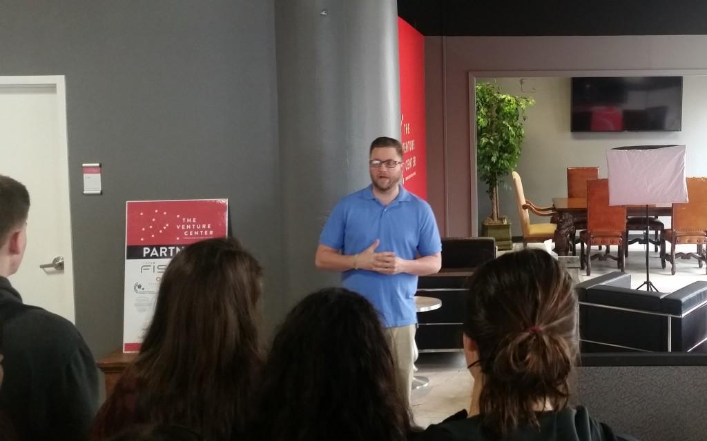 Tim Freeman addresses eStem kids