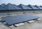 Solar Panels on UALR building.