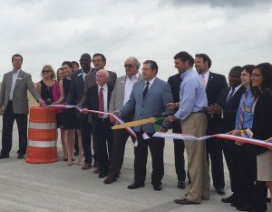 Little Rock Mayor Mark Stodola, along with members of the Arkansas State Highway and Transportation Department, Highway Commission and others officially dedicate the Big Rock Interchange