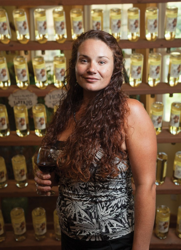 Audrey House, owner of Chateau Aux Arc Vineyards and Winery in Altus.