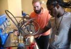 Lamarcus Fresh uses hydraulics machine