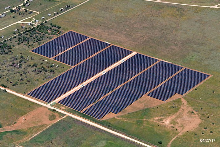 The solar project planned for Crossett will resemble one recently completed in Dawson County, Texas